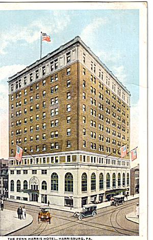 Penn Harris Hotel Harrisburg PA Postcard p30667 (Image1)
