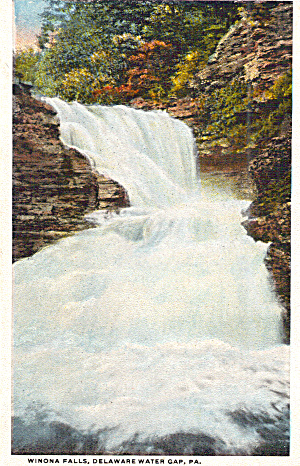 Winona Falls, Delaware Water Gap, PA (Image1)