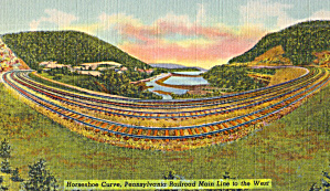 Horseshoe Curve Pennsylvania Railroad Main Line West  p30673 (Image1)