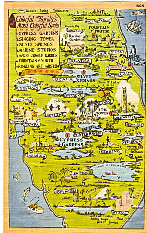 Map of Florida Attractions (Image1)