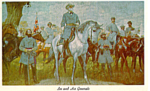 Lee And His Generals Painted By Charles Hoffbauer P30790