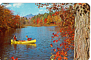 Canoeing on an Autumn Day Postcard p30841 (Image1)