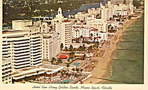 Hotel Row along Golden Sands Miami Beach Florida p30853 (Image1)
