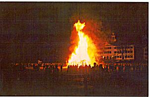 Bonfire on Dartmouth College Campus New Hampshire p30864 (Image1)