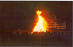 Bonfire On Dartmouth Campus P30864