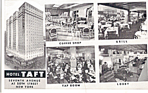 Hotel Taft New York City Postcard p30908 (Image1)