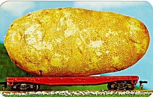 Idaho Potato on a Railroad Flat Car Postcard p30957 (Image1)