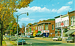 Port Allegany Pa Downtown Us 6 Cars 50s Drug Store Shops P30967