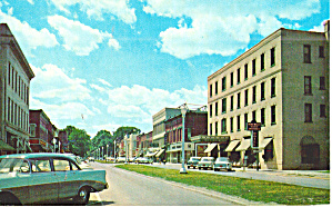 Wellsboro  PA  Main Street Cars 50s Penn Wells Hotel p30975 (Image1)