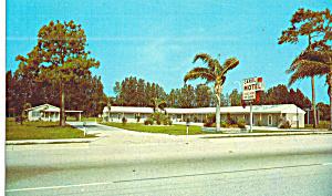 Ruskin Florida Carol Motel Postcard p30978 (Image1)