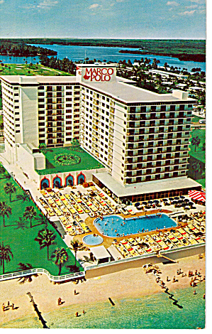 Miami Beach Florida Marco Polo Resort Motel P30981