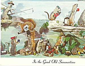 Chipmunks At Play Postcard P31036