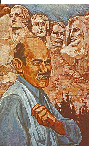 Painting of Gutzon Borgium by Kitty Dumont Postcard p31067 (Image1)