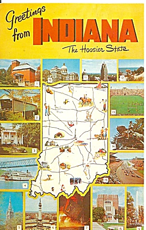 State Map of Indiana (Image1)