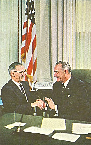 36th President Lyndon B Johnson P31174