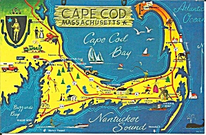 Map of Cape Cod Massachusetts (Image1)