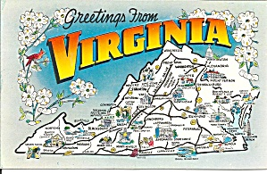 State Map of Virginia (Image1)