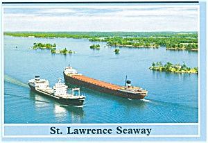 St Lawrence Seaway Ships Postcard p3119 (Image1)