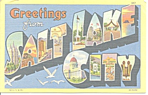 Big Letter Postcard of Salt Lake City Utah p31204 (Image1)