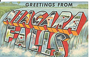 Big Letter Postcard Of Niagara Falls P31212