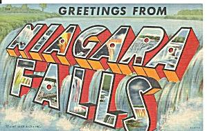 Big Letter Postcard of Niagara Falls p31212 (Image1)