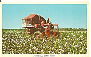 Mechanical Cotton Picker Postcard P31214