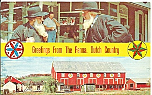 Amish Men and Hex Barn in Amish Country p31218 (Image1)