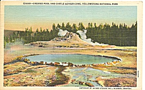 Crested Pool, Castle Geyser Cone, Yellowstone National Park (Image1)