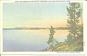 Yellowstone Lake Mt Sheridan Yellowstone National Park WY p31235 (Image1)