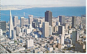 San Francisco, California, Aerial View o Financial District (Image1)