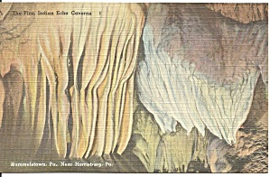 Indian Echo Caverns Pennsylvania The Fins Postcard P31267