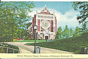 Cannon Memorial Chapel University of Richmond Virginia p31271 (Image1)