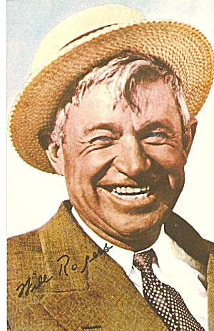 Will Rogers Famous Humorist Postcard P31300
