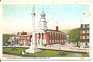 Lewistown, Pennsylvania, Court House Soldiers Monumnet (Image1)