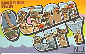 Big Letter Postcard Ocean City New Jersey p31327 (Image1)