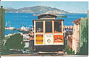 San Francisco Ca Hyde Street Cable Car Alcatraz P31348