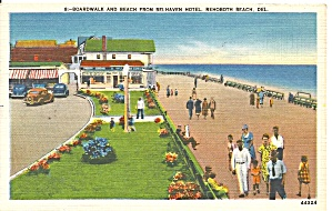 Sidewalk and Beach from Belhave Hotel, Rehoboth Beach,Delaware (Image1)