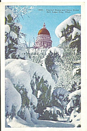 State Capitol Salt Lake City Utah In Snow P31420