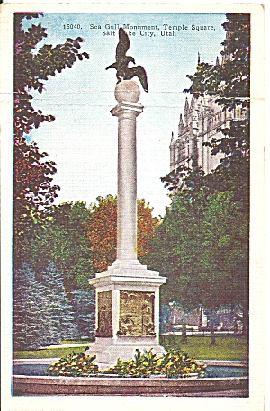 Salt Lake City Utah Sea Gull Monument Temple Square P31426