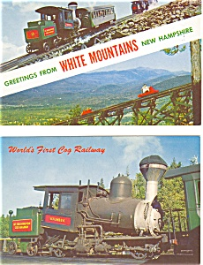 Cog Railway White Mountains NH Postcard Lot 2 (Image1)