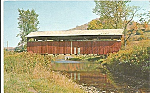 Old Covered Bridge Liberty Pa Postcard P31457