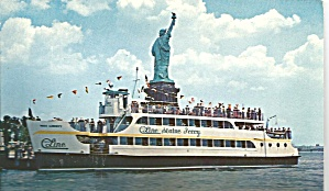 Circle Line Ferry at Statue of Liberty New York Harbor p31459 (Image1)