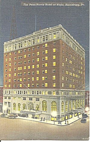 Penn-Harris Hotel at night, Harrisburg, Pennsylvania (Image1)