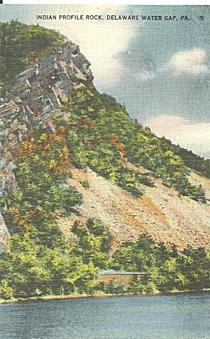 Indian Profile Rock Delaware Water Gap Pennsylvania p31568 (Image1)