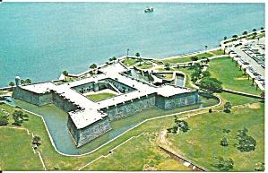 Aerial of Castillo de San Marco St Augustine Florida p31585 (Image1)