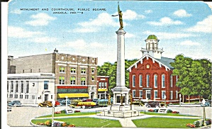 Angola,Indiana,Monument and Court House (Image1)