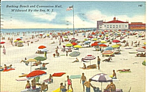 Wildwood By The Sea Nj Bathing Beach Convention Hall P31652