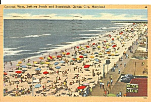 Ocean City Maryland Bathing Beach And Boardwalk P31660