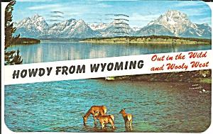 Casper  Wyoming Lake and Mountain Scene p31662 (Image1)