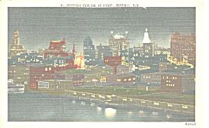 Buffalo  New York Skyline at Night p31677 (Image1)